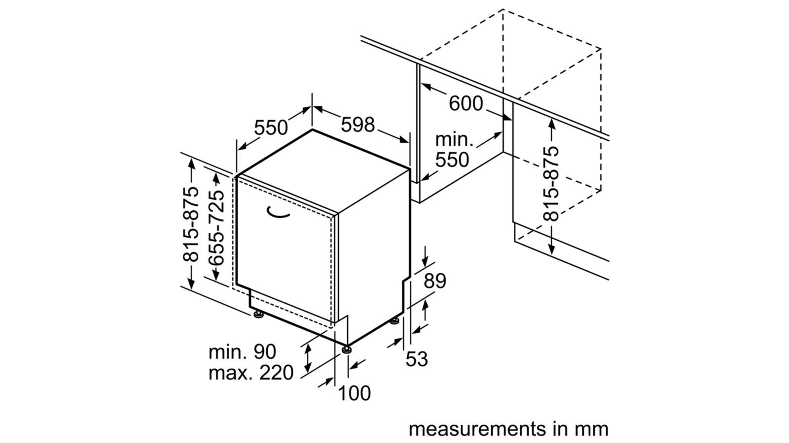 Máy rửa bát âm tủ Bosch HMH.SMV88TX02E   Serie 8 - Tổng kho bếp GNA